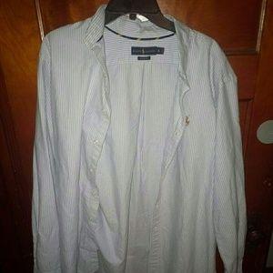 Ralph Lauren XL Classic Fit Dress Shirt Button Dow